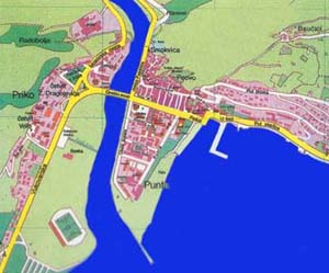omiš karta grada Plan grada Omisa (Plan of the City of Omis)   Omiš, Croatia omiš karta grada